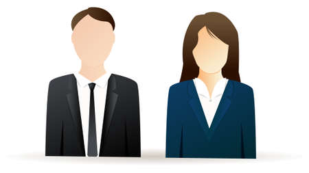 Business man and business woman - two users icons Vector