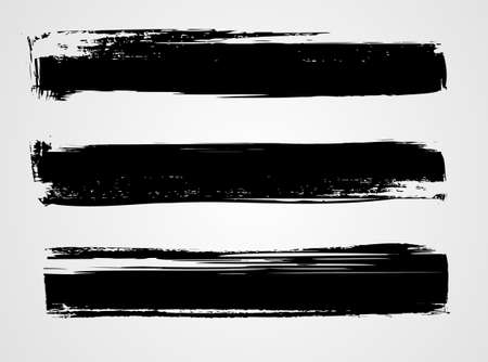 Set of three black grunge banners for your design