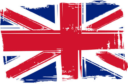 painted wall: Grunge flag of the United Kingdom for your design Illustration
