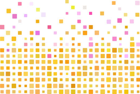 Simple mosaic background in orange color Vector