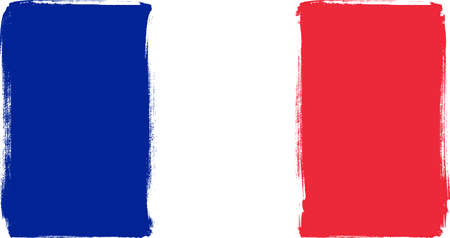 tricolour: Grunge Tricolour flag of France for your design Illustration