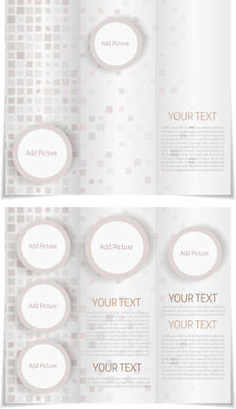 tri fold: Tri fold brochure template with modern abstract design Illustration