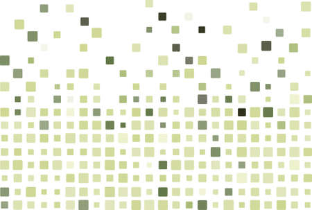 Simple mosaic background in green color Illustration