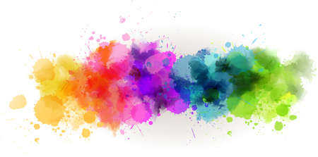 色とりどりの水彩線と背景