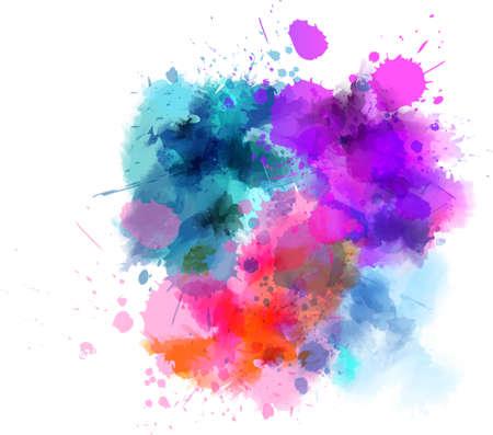 여러 가지 빛깔의 수채화 얼룩