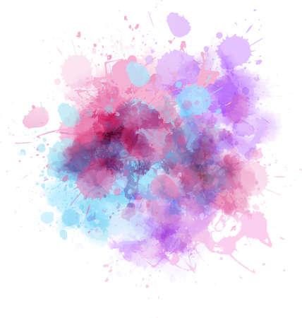 여러 가지 빛깔의 수채화 시작 오점 일러스트
