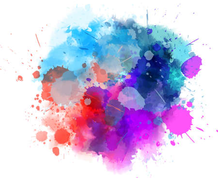 blot: Multicolored watercolor splash blot