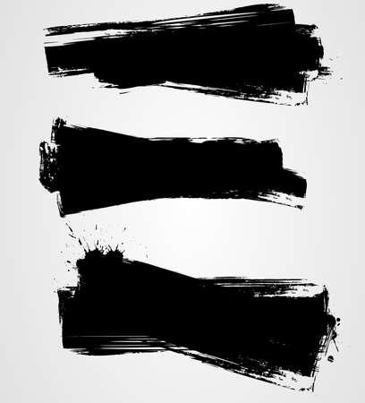 Set of grunge background banners for your design Illustration