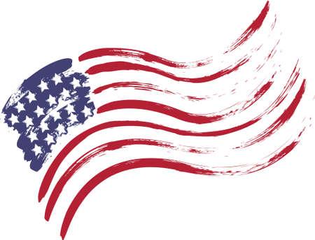 Grunge bandera americana EE.UU. - salpicado de estrellas y rayas Foto de archivo - 40630534
