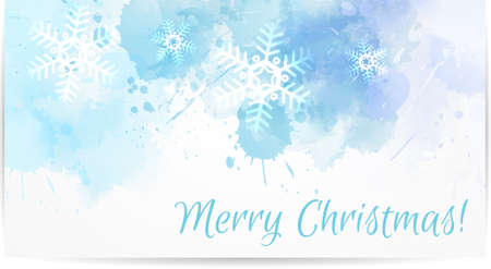 blue snowflakes: Abstract Christmas card with snowflakes in blue color