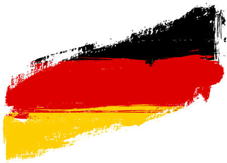 black yellow: Grunge flag of Germany Bundesflagge und Handelsflagge Illustration