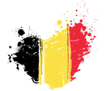 grunge heart: Belgium flag in grunge heart shape