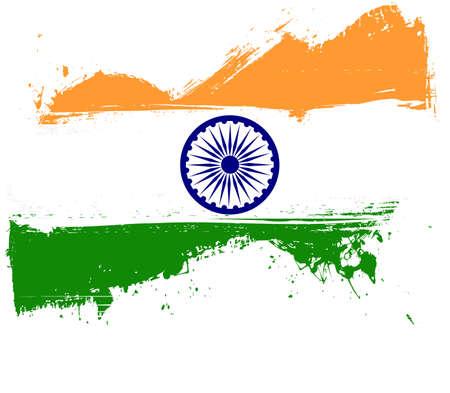 Grunge India national flag for your designs. Illustration
