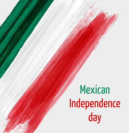 Mexican Independence day background with grunge lines in flag colors. Concept for Independence day poster, flyer, banner, etc. Vektorové ilustrace