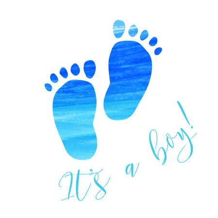 Baby gender reveal concept illustration.