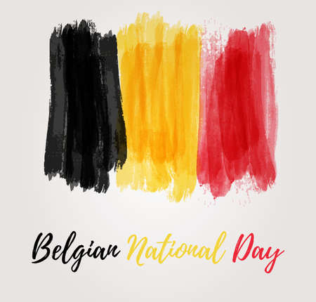 Holiday for Belgian national day Illustration