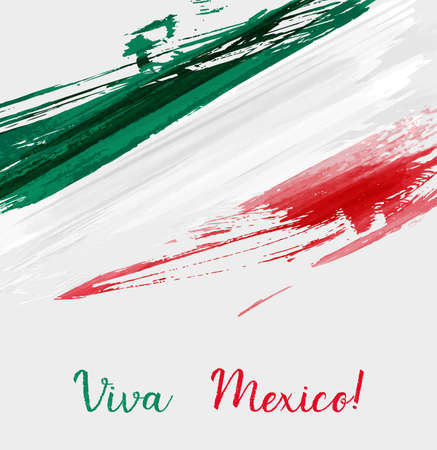 Viva Mexico background with watercolored grunge design. Independence day concept background.