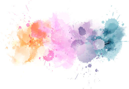 Watercolor imitation line in light colors. Vector illustration