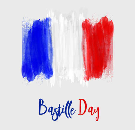 Happy Bastille Day vector illustration