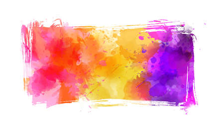 Abstract multicolored brushed grunge banner background Illustration