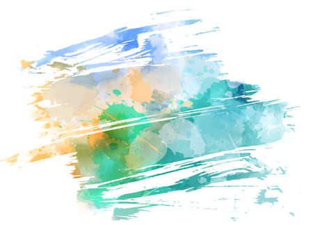 Abstract multicolored brushed grunge background