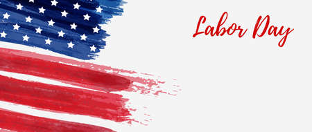 USA Labor day holiday background. Grunge abstract flag. Template for holiday banner. Illustration