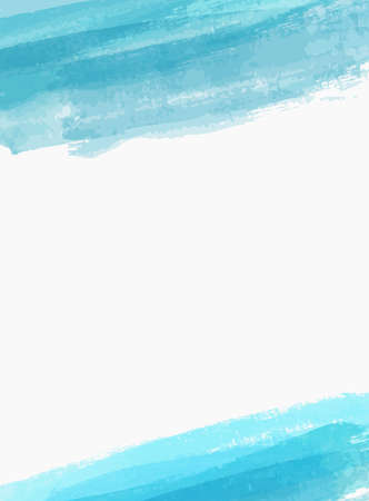 Background template with brushed watercolor imitation lines. Blue colored. Stock fotó - 127028800