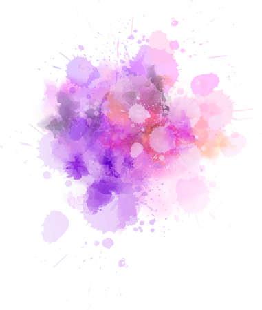 Salpicaduras de pintura acuarela luz pastel. Plantilla para tus diseños
