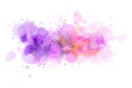 Pastel light watercolor paint splash line. Template for your designs 矢量图像
