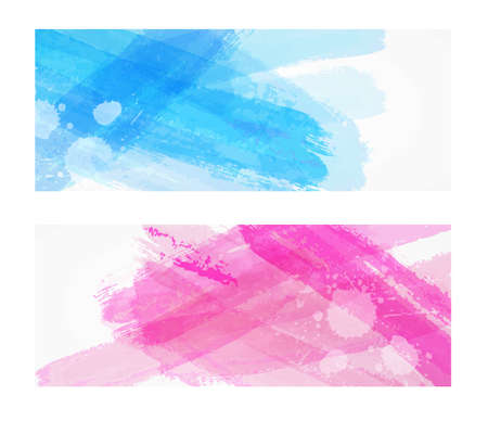 Background with multicolored watercolor paint brushed lines. Template for your designs.
