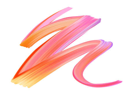 Wavy colorful brush stroke line. Watercolor or acrylic paint imitation. Template for your designs.