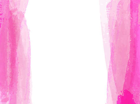 Background with pink watercolor paint brushed lines. Template for your designs.