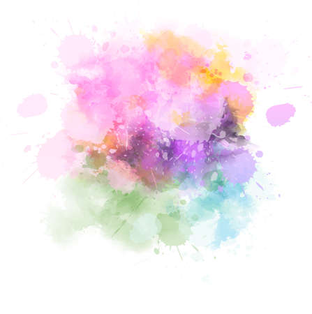 Pastel light watercolor paint splash. Template for your designs Illustration