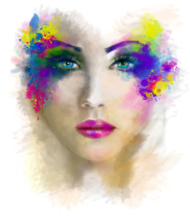 female portrait: abstract Woman Beautiful portrait illustration