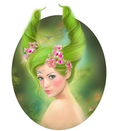 Capricorn fantasy zodiac beautiful fantasy girl