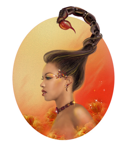 Horóscopo del zodiaco - Escorpio Fantasía retrato hermosa niña