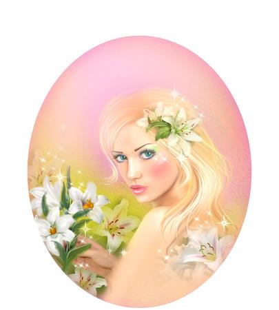 girl drawing: Horoscope Zodiac - Fantasy Virgo portret beautifulbn girl