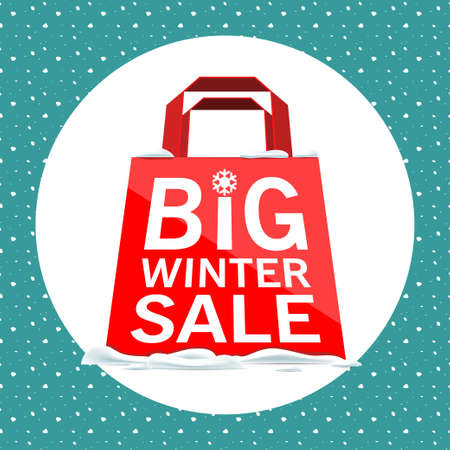red packet: Vector. Red packet with a big winter sale.