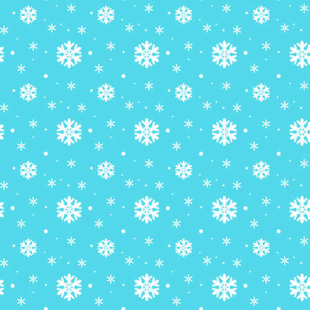 icicles: Seamless pattern. Small white snowflakes on a blue background. Fine snow.
