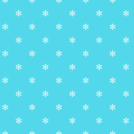 icicles: Seamless pattern. Small white snowflakes on a blue background. Fine sno