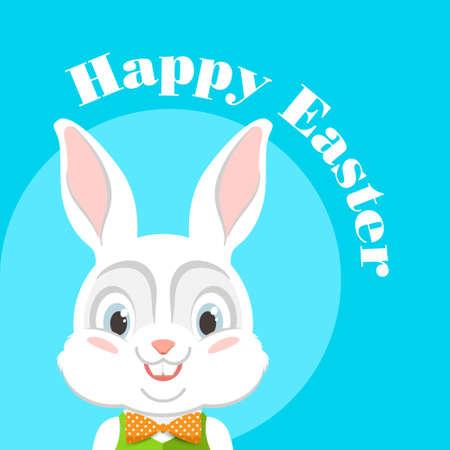 osterhase: Fröhliche Ostern. Vektor-Illustration mit Osterhasen. Illustration