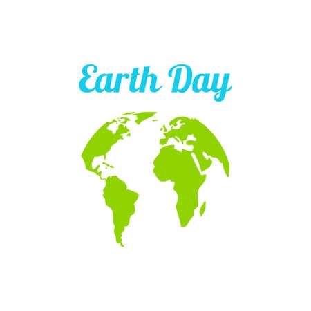 Día De La Tierra En Los Colores Azul Y Verde. Ilustraciones ...