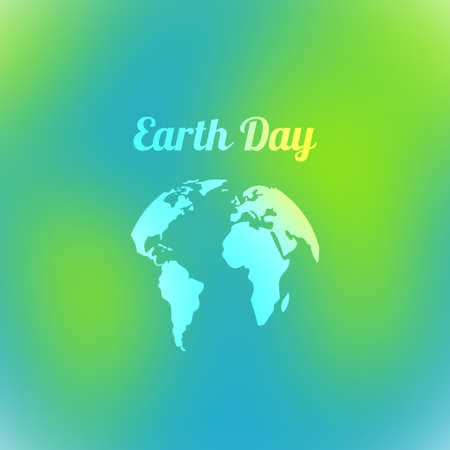 blurring: Earth Day. Vector illustration of the effect of blurring.