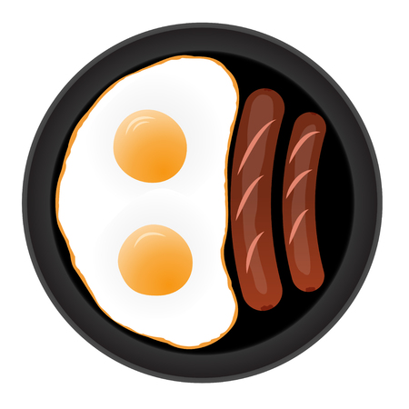 fried: fried eggs with sausages
