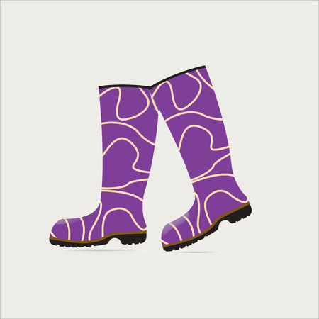 wellies: fashion rubber boots on a light background