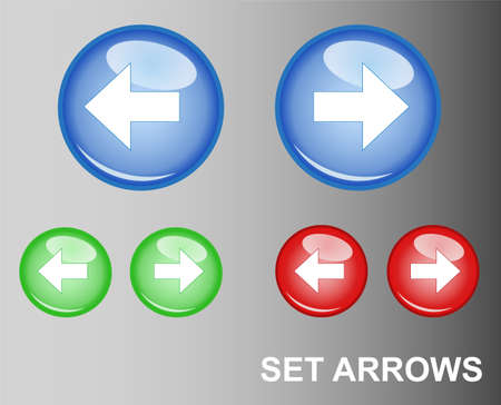 red handed: RGB Button Arrows
