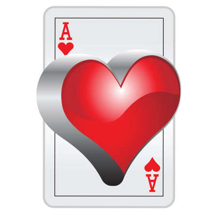 3D Ace of hearts