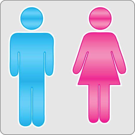 Hommes et femmes signe Vecteurs