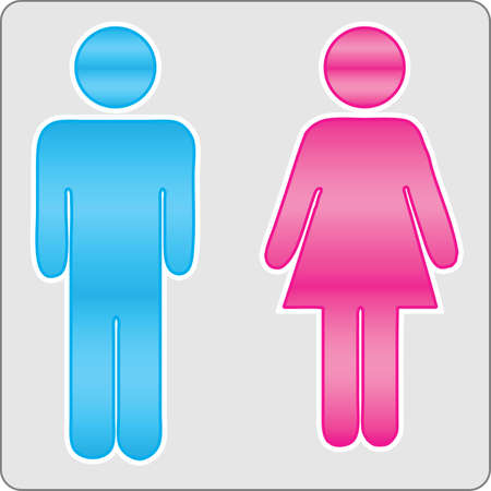 Sign male and female Vector Illustration