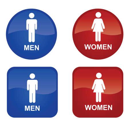 Men and Women Vetores